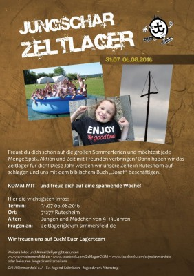 Zeltlager-Info