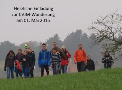 Herzliche Einladung zur CVJM-Wanderung am 01.Mai