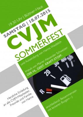 CVJM Sommerfest am 18. Juli um 19:30 Uhr