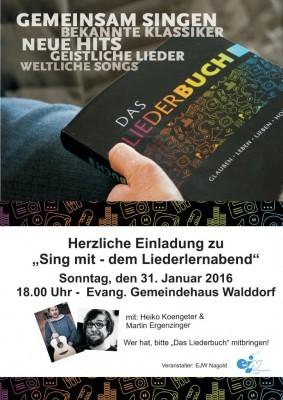 Liederlernabend in Walddorf