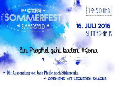 Herzliche Einladung zum Sommerfest